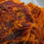 Sweet Potato Cakes With Scallion Yogurt Sauce