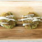 Easy Falafel Cakes with Tahini Dressing